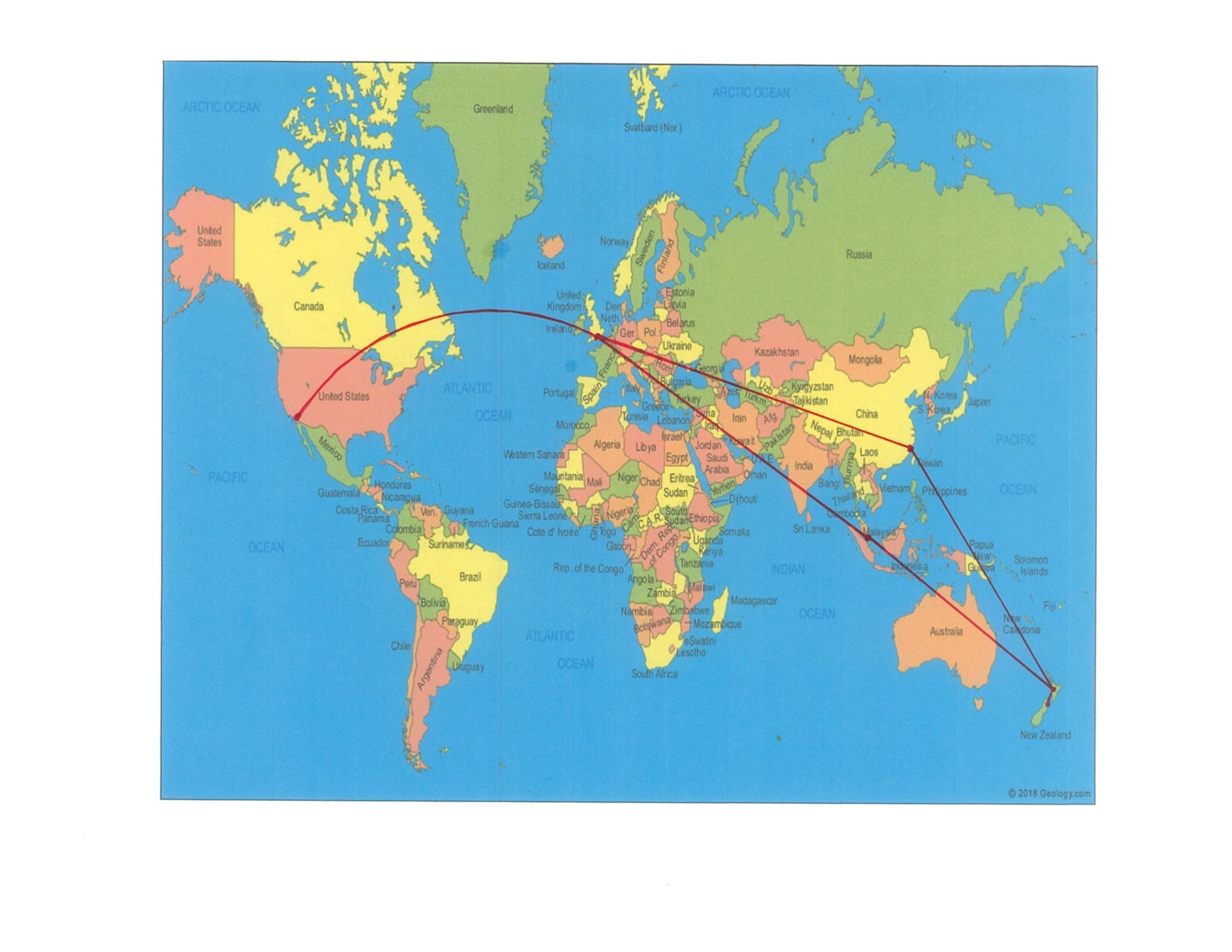 Ireland trip map air